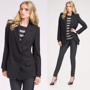 Theory Lyzbeth Tailor 2 Button Stretch Wool Blazer